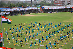 August 15, 2018 - Jaipur, Rajasthan, India - Artists perform during the 72th Independence Day celebration at Sawai Mansingh Stadium in Jaipur ,Rajasthan,India on August 15,2018.(Photo By Vishal Bhatnagar/NurPhoto) (Credit Image: © Vishal Bhatnagar/NurPhoto via ZUMA Press)