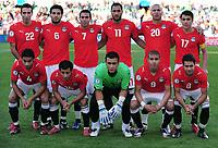 Fotball<br /> Confederations Cup<br /> Foto: imago/Digitalsport<br /> NORWAY ONLY<br /> <br /> 15.06.2009<br /> Lagbilde Egypt - hi.v.li.: Mohamed Aboutrika, Hany Said, Ahmed Fathi, Mohamed Shawky, Wael Gomaa, Ahmed Hassan; vorn: Ahmed Said, Sayed Moawad, Torwart Essam El Hadary, Mohamed Zidan und Hosny Abd Rabou