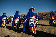 Inty Raymi. Third act. Archaeological site of Sachsayuaman.