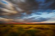 Sunset, Clouds and sage, Mono Lake, California  2007