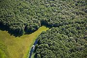 Nederland, Noord-Holland, Naarden, 14-07-2008; natuurgebied Naardermeer, oudste en een van de bekenste natuurreservaten van Nederland, bezit van de Vereniging voor Natuurmonumenten (grondlegger Jac. P. Thijsse); natuurreservaat, bos; momenteel wordt het gebied uitsluitend doorsneden door de spoorlijn Weesp - Naarden/Bussum, er zijn echter plannen om een nieuwe weg aan te leggen vlak langs en onder het gebied, namelijk tussen het nabij gelegen Almere en Amstelveen (en door naar Schiphol) dit in verband met de fileproblematiek rond de hoofdstad; Rijkswaterstaat overweegt echter de Gaasperdammerweg te verbreden ivm die files en zo het Naardermeer te sparen; . .luchtfoto (toeslag); aerial photo (additional fee required); .foto Siebe Swart / photo Siebe Swart