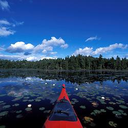 Kayaking Hubbard Pond in New Hampshire's Monadnock Region.  Rindge, NH