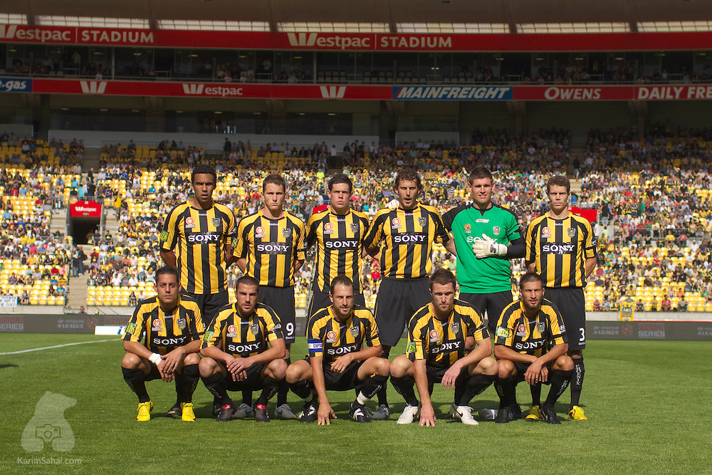 February 21 2010. The Wellington Phoenix' Hyundai A-League semifinal 4-2 win over Perth Glory at Westpac Stadium. The team advances to the final stage on March 7, with Sydney FC or Melbourne Victory as opponent.