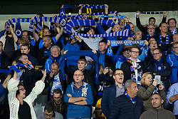September 18, 2018 - Brugge, BELGIUM - Illustration picture shows Club Brugge supporters  sing 'You'll never walk alone' to honour Club Brugge supporter Eddy Devreker who had a heart attack during last week's match, at the start of a game between Belgian soccer team Club Brugge KV and German club Borussia Dortmund, in Brugge, Tuesday 18 September 2018, day one of the UEFA Champions League, in group A. BELGA PHOTO KURT DESPLENTER (Credit Image: © Kurt Desplenter/Belga via ZUMA Press)