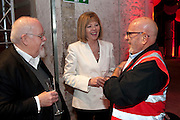 SIR PETER BLAKE; LADY BLAKE; ZEV ARRAN , Stella McCartney, Sir Peter Blake, Nigel Carrington and Jane Rapley host a hard-hat party in the building site for the future home of Central St. Martin's. The Granary Building complex in King's Cross. London. 17 September 2009