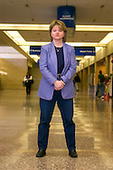 2/3/06 -- Omaha, NE  Author Alex Kava in the Eppley Airport in Omaha Nebraska, where one of her latest novels take place.. (Photo by Chris Machian/fPrairie Pixel Group).