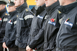© under license to London News Pictures.  04/11/2010. .People of Plymouth set out to the Hoe to see off a team of marines marching across the country. The Royal Marine team consists of Ram Patten, Ralph Cottrell, Kevin Rose, Sean Power and RAF veteran Matthew Bennett.