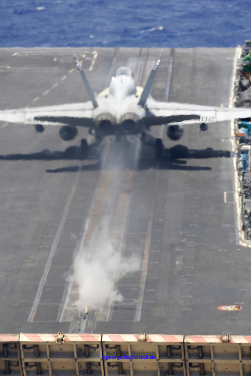 F/A-18C on take off