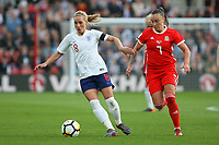 Football - 2017 / 2018 Womens World Cup Qualifier - UEFA Group One: England vs. Wales<br /> <br /> Englands Jordan Nobbs and Natasha Harding of Wales in action at St Mary's<br /> <br /> COLORSPORT/SHAUN BOGGUST