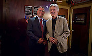 MANHATTAN (July 19, 2016) -- American film & television icon Tom Skerritt spends time with U.S. military service veterans who are members of the group Veterans of Wall Street (VOWS), at Foley's Irish Pub in downtown Manhattan.  As a special guest of the Bob Woodruff Foundation, Skerritt talked about his program The Red Badge Project, a storytelling workshop designed to support veterans suffering from post traumatic stress and traumatic brain injury.  Photo by Johnny Bivera