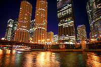 Chicago River featuring Marina City Complex