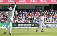 England Joe Root is out for 98 during the first day of the Investec 1st Test  match between England and New Zealand at Lord's Cricket Ground, St John's Wood, United Kingdom on 21 May 2015. Photo by Ellie  Hoad.