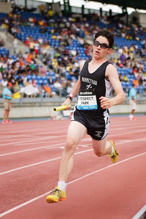 Samsung Diamond League adidas Grand Prix track & field; 4x400 meter relay youth boys, Prospect Park