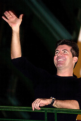 Simon Cowell  in Meadowhall Sheffield before he switched on the Shopping centers Christmas lights in November 2004