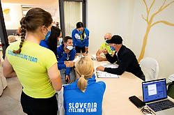 Milosz Bujak, Eugenia Bujak, Gorazd Penko and Andrej Cimpric of Team Slovenia during  UCI Road World Championship 2020, on September 24, 2020 in Hotel Lungomare, Rimini, Italy. Photo by Vid Ponikvar / Sportida