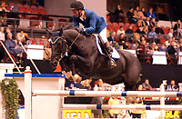 Rikstoto Grand Prix, Oslo Horse Show, Oslo Spektrum 19.10.02 <br />Saturday, October 19th 2002. CALYPSO D'HERBIERS*ECOLIT \ Hervé GODIGNON (FRA)<br /> <br />Foto: Geir Egil Skog, Digitalsport
