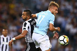 August 13, 2017 - Rome, Italy - Mehdi Benatia of Juventus and Ciro Immobile of Lazio  during the Italian Supercup match between Juventus and SS Lazio at Stadio Olimpico on August 13, 2017 in Rome, Italy. (Credit Image: © Matteo Ciambelli/NurPhoto via ZUMA Press)