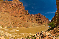 Big Drop II (Little Niagara), Rapid 22, Colorado River, Glen Canyon National Recreation Area, Utah USA. This wild,  undammed 112 mile section of the Colorado River was flowing at over 52,000 cubic feet per second.