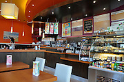 Eastern Europe, Hungary, Budapest, Interior of a coffee Shop