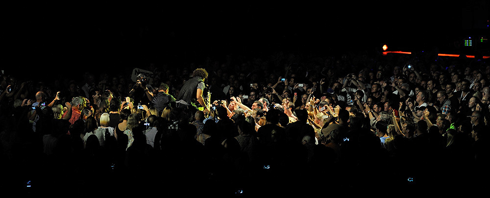 Jake Clemons, nephew of the late Clarence Clemons, playing with Bruce Springsteen and the E-Street Band. Perth, Western Australia, February 2014