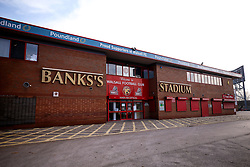 A general view of The Banks's Stadium, home to Walsall - Mandatory by-line: Robbie Stephenson/JMP - 07/11/2020 - FOOTBALL - Banks's Stadium - Walsall, England - Walsall v Bristol Rovers - Emirates FA Cup First Round