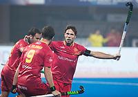 BHUBANESWAR -  Hockey World League finals ,  .Team Argentina.  Argentina v Spain (2-1). Pau Quemada (Esp)  heeft gescoord.   COPYRIGHT KOEN SUYK