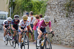 Anna van der Breggen sets the pace on the climb on lap 4 at Grand Prix de Plouay Lorient Agglomération a 121.5 km road race in Plouay, France on August 26, 2017. (Photo by Sean Robinson/Velofocus)
