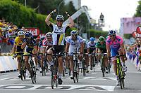 CYCLING - TOUR DE FRANCE 2011 - STAGE 7 - Le Mans > Châteauroux (218 km) - 08/07/2011 - PHOTO : JULIEN CROSNIER / DPPI - MARK CAVENDISH (GBR) / HTC - HIGHROAD