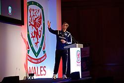 NEWPORT, WALES - Friday, May 20, 2016: Dave Hughes gives a presentation during the Football Association of Wales' National Coaches Conference 2016 at the Celtic Manor Resort. (Pic by David Rawcliffe/Propaganda)