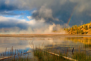 Rainbow over Midway Geyser Basin, Yellowstone National Park, Wyoming