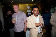 Olivier Michaels; Cedar Lewisohn, Opening of Rude Britannia. Tate Britain. Millbank. London. 7 June 2010. -DO NOT ARCHIVE-© Copyright Photograph by Dafydd Jones. 248 Clapham Rd. London SW9 0PZ. Tel 0207 820 0771. www.dafjones.com.