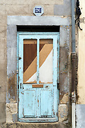 door of an abandoned residential house