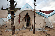 A tent in Yayladagi refugee camp for Syrians in southern Turkey. 12/21/2012 Bradley Secker for the Washington Post