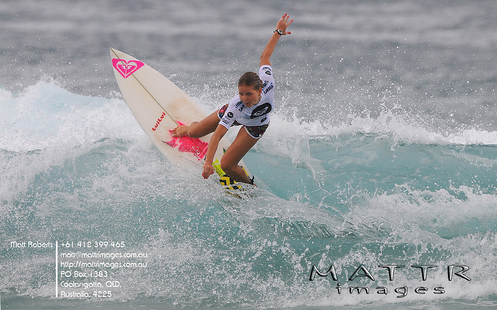 Gold Coast, Australia - March 2: Bruna Schmitz 12.76pts in action during round 2 of the Roxy Pro Gold Coast 2010 at Snapper Rocks on the Gold Coast, March 2, 2010 Photo by Matt Roberts/MATTRimages.com.au | Image ID: MTR_7290.jpg