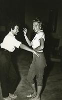 1954 Rita Morino practices dancing at the Hollywood Studio Club