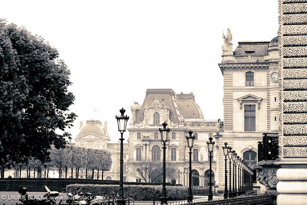 B&W fine art photograph of a Paris park