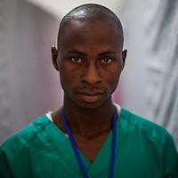 Foromo Kpakpavogui, Ebola vaccine laboratory technician at Donka Hospital, Conakry, Guinea.