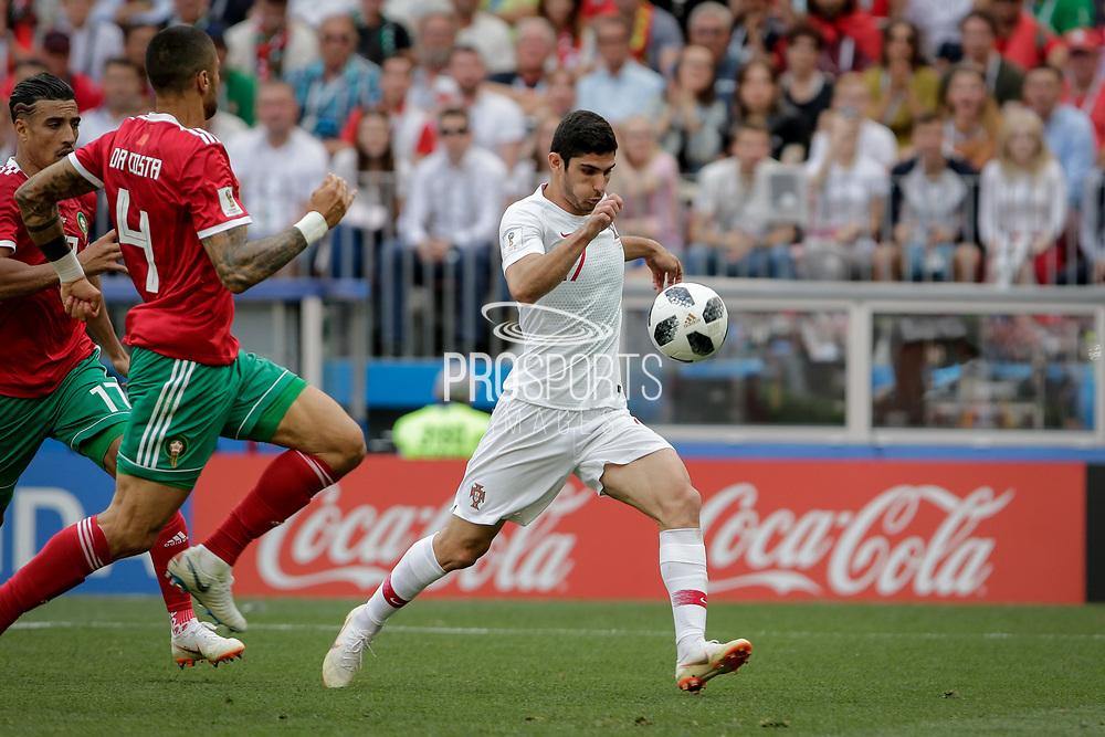 Goncalo Guedes of Portugal during the 2018 FIFA World Cup Russia, Group B football match between Portugal and Morocco on June 20, 2018 at Luzhniki stadium in Moscow, Russia - Photo Thiago Bernardes / FramePhoto / ProSportsImages / DPPI