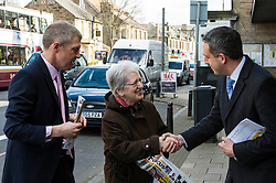 Pictured: Willie Rennie and Alex Cole-Hamilton meet some voters today<br /> <br /> Liberal Democrat leader Willie Rennie was in campaign mode when in Edinburgh Western ahead of the second TV leaders' debate. Mr Rennie joined volunteers at a street stand outside the local campaign office in Corstorphine with local candidate Alex Cole-Hamilton. <br /> <br /> Ger Harley | EEm 29 March 2016