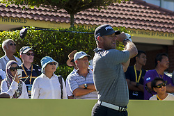 February 3, 2018 - Shah Alam, Kuala Lumpur, Malaysia - Lee Westwood is seen taking a shot from hole no 1 on day 3 at the Maybank Championship 2018...The Maybank Championship 2018 golf event is being hosted on 1st to 4th February at Saujana Golf & Country Club. (Credit Image: © Faris Hadziq/SOPA via ZUMA Wire)