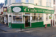Corner cafe, Scarborough, Yorkshire, England