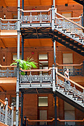 Bradbury Building, Broadway, Downtown Los Angeles, California, Usa
