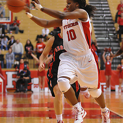 Dec 7, 2008; Piscataway, NJ, USA; Rutgers guard Epiphanny Prince (10) passes across the floor during the second half of Rutgers' 45-34 victory over Georgia in the Jimmy V Classic at Louis Brown Athletic Center.