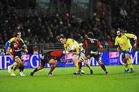 Paul JEDRASIAK - 28.12.2014 - Lyon Olympique / Clermont - 14eme journee de Top 14 <br /> Photo :  Jean Paul Thomas / Icon Sport