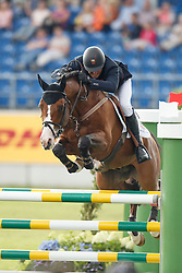 Clee Joe, (GBR), Utamaro D Ecaussines<br /> Team completion and 2nd individual qualifier<br /> FEI European Championships - Aachen 2015<br /> © Hippo Foto - Dirk Caremans<br /> 20/08/15