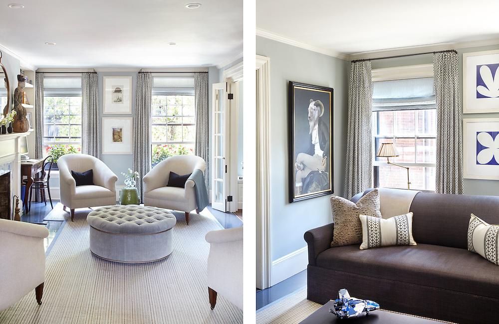 Living Room of Beacon Hill Townhouse. Designer: Patricia McDonagh Interior Design