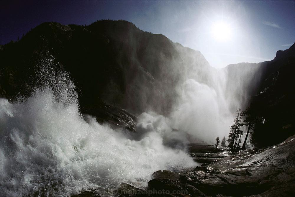 Waterwheel Falls on the Tuolumne River, Yosemite National Park, California.