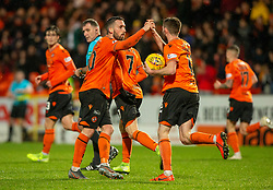 Dundee United's Nicky Clark celebrates after scoring their first half goal. half time : Dundee United 1 v 1 Alloa Athletic, Scottish Championship game played 7/12/2019 at Dundee United's stadium Tannadice Park.