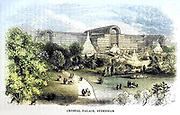 Crystal Palace Sydenham From the book ' London and its environs : a practical guide to the metropolis and its vicinity, illustrated by maps, plans and views ' by Adam and Charles Black Published in Edinburgh by A. & C. Black 1862