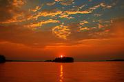 Sunset on Lake Muskoka<br /> Muskoka Beach<br /> Ontario<br /> Canada